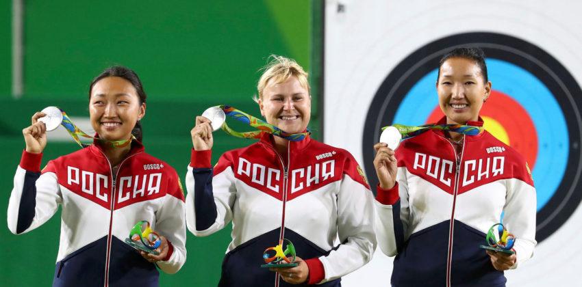 Женская сборная России впервые завоевала олимпийские медали в стрельбе из лука. Рио 2016